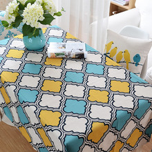 Thick solid Cotton Linen Table Cloth Rectangular	Fashion Desktop Art Modern Geometric Tablecloth wholesale Dining Table Cover