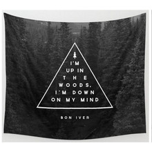 Black white Tapestry wall carpet 130*150cm Home decor sofa cover black forest wall docor Wolf beach Towel instant popular mat