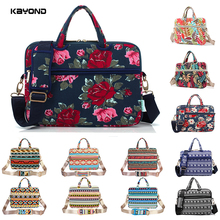 "Hot Sale KAYOND Brand Canvas Women Handbag Super Thin Laptop Shoulder Bag With Belt Light for Macbook Laptop 12""13""14""15"""