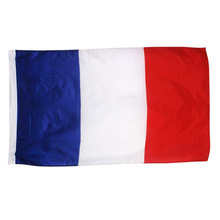 France National Flag French Soccer banner Tricolor free shipping custom flag Custom Sports Team Flag(China)