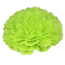FBIL 15pcs 25cm(10inch) Tissue Paper Wedding Party Decor Craft Paper Flower For Wedding Decoration Apple green(China)