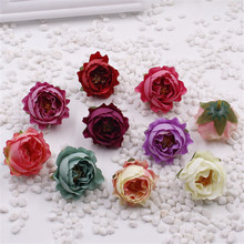 5 pcs 4.5cm Rose Artificial Silk Flower Heads Wedding decoration Craft optional color