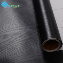 3M /5M Black Wood grain Walls paper Furniture Kitchen Wardrobe Door decorative film pvc stickers heat transfer vinyl wallpaper(China)