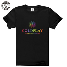 2016 Men band clothing coldplay Britpop Alternative Rock Cotton Print T-shirt Tee SHIRT t shirt Short Sleeve 3D print 1401