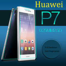 Screen Protector film No Finger  print mobile accessories wholesale protective glass on Huawei P7 glass