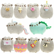 New 2017 Kawaii Brinquedos 23cm Sushi Pusheen Cat & Potato Chips Plush child pussy Animal Toys(China)