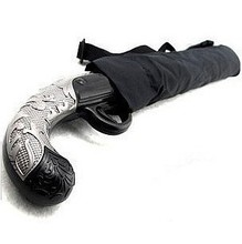 Classic gun folding,knife style and pistol style umbrella, personality umbrella gift(China)