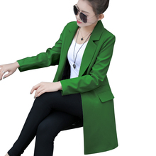 Spring Autumn Women Slim Blazer Coat 2017 New Casual Jacket Long Sleeve One Button Suit Ladies Blazers Work Wear C685(China)