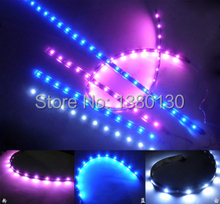 "LED 12V WHITE WATERPROOF 2X 24""(60cm) SIDE SHINE STRIP 30 SMD HID FOG DRL HEAD SLIM XENON LIGHT"