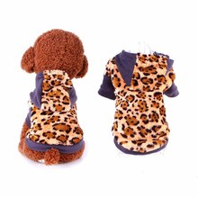 Casual Pet Dog Clothes Puppy Apparel for Small Dogs Leopard Print Chihuahua Sweater Coat Winter Small Dog Accessories Supplies(China)