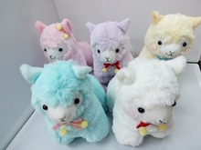 10pc/Lot Mixed Color 17cm velvetribbon Alpaca Japan Alpacasso Plush Toy Kids Alpaca Christmas Gifts Toy(China)