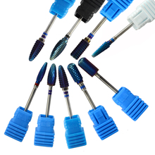 "1PCS Tungsten Carbide Drill Bit 9 Styles Blue Flame Round Head 3/32"" Manicure Electric Nail Art Salon Files Accessories CH308"
