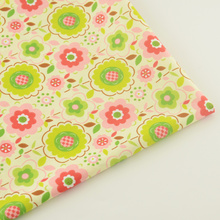 Tissue Quilting Retro Flower Home Textile Cotton Fabric Craft Sewing Cloth Fabrics Tecido Patchwork Decoration Bedding