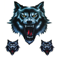 New Vinyl Skull Head Fire Flame Wolf Head Decals Funny Self-adhesive Sticker for Motorcycle Car Door Stickers Truck Helmet Decor