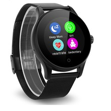 Excelvan K88H Smart Watch 1.22 Inch Round Screen Support Heart Rate Monitor Bluetooth MTK2502C Smart Wristwatch For IOS Android(China)