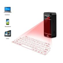 Wireless Bluetooth Virtual Laser Projection Keyboard Mouse Bluetooth Speaker For iPad iPhone Android iOS Tablet PC Black APE