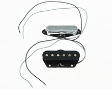 KAISH 2x Neck& Bridge Tele Pickup Set Guitar Pickups for Telecaster Chrome(China)