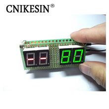 CNIKESIN DIY Originality 51 Singlechip Electronic Design Clock Kit & Can Set Upper Bound Digital Temperature Hygrometer Display(China)