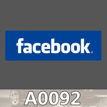 Bevle A0092 Facbook Social Media Sites LOGO Waterproof Sticker for Cars Laptop Luggage Skateboard Graffiti Notebook Stickers
