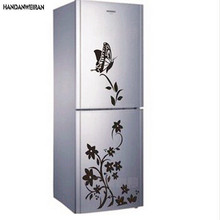 2017  Hot  foreign trade butterfly flower vine refrigerator stickers paper generation carving can be removed  Wall sticker