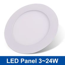 Ultra Thin LED Panel Light Round LED Downlight 3/4/6/9/12/15/18/24W LED Ceiling Recessed Light 110V 220V SMD2835 Kitchen Lamp