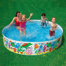 Free Shipping 2016 Cute Kawaii Family 152*25cm Baby Swimming Pool High Safety Baby Float Infant PVC Swimming Pool For Family