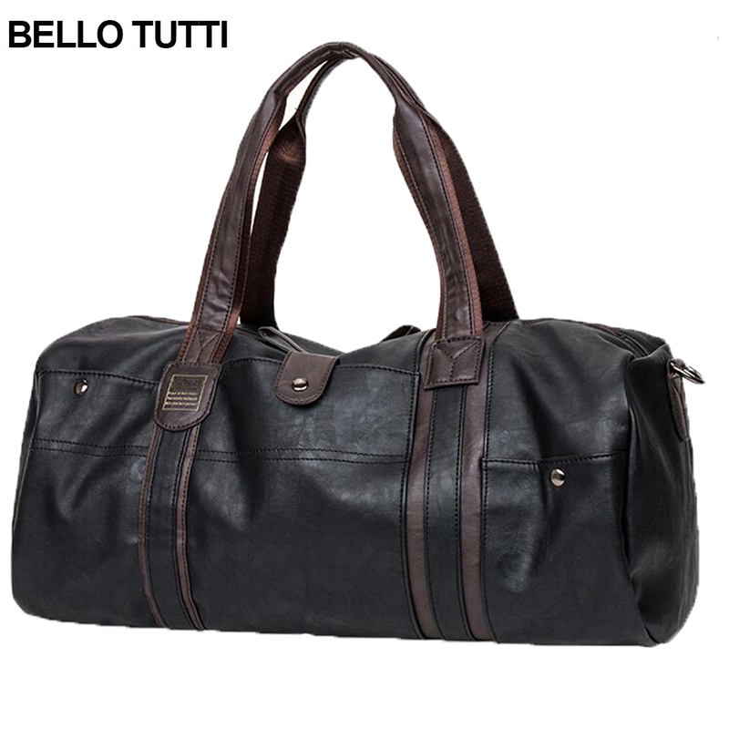 BELLO TUTTI Men Vintage Retro Leather Travel Bags Hand Luggage Bag Fashionable Large Capacity Duffle Bags Traveling Bag<br><br>Aliexpress