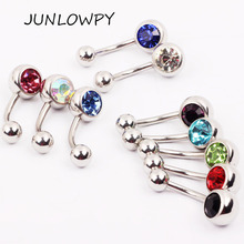 Buy Surgical Stainless Steel Piercing Navel Belly Ring Belly Button Ring Crystal 50pcs Mix 10 Colors Pircing Nombril Body Jewelry for $12.99 in AliExpress store