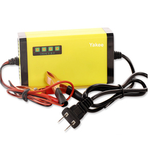 Yakee Portable Adapter Power Supply 12V 2A Motorcycle Car Auto Battery Charger US Plug Intelligent Charging Machine LCD Display(China)
