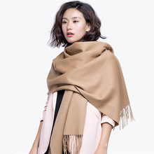 2017 fall winter new woman's 100% cashmere wool scarf ladies scarves beige red grey blue black(China)