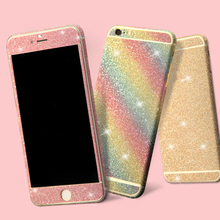 For iPhone 6S Sticker Glitter Bling Rhinestone Diamond Full Body Shiny Screen Protector Decal For iPhone 7 6S Plus 4S 5S Sticker