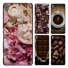 peony chocolate and coffee Style Style Case Cover for Sony Ericsson Xperia X XZ XA XA1 M4 Aqua E4 E5 C4 C5 Z1 Z2 Z3 Z4 Z5