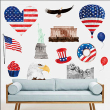 USA Flag Wall Sticker Map Baby Kids Room Living Room Sofa Background Bar Shop Home Decor Art Vinyl Colorful Creative Decal Mural