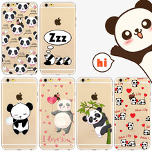 New China Cute Panda Phone Cover For iPhone 7 7Plus Cases Soft TPU Clear Transparent Cover Coque Capa for iphone 7 Cases
