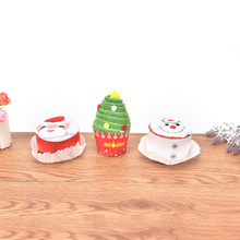 Christmas Towel Creative Cakes Towels Small Water Absorption Towel Snowman Kindergarten Events Christmas Dolls Promotional Gift(China)