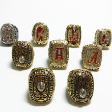 9pcs/Set 1973 1978 1979 1992 2008 2009 2011 2012 2015 Alabama Crimson Tide Championship Rings Replica Drop Shipping