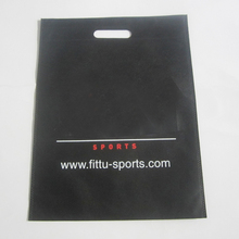 200pcs/lot black bag with 2 color print ,non woven shopping bag ,cheapest promotional bag ,includ one color print