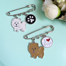 Corgi Chow chow boxer woman brooches wholesale Fashion dogs Charm Costume Brooch Pins Jewelry Accessories for girl brooch badge