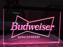 LE009- Budweiser King Beer Bar Pub Club LED Neon Light Sign(China)