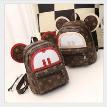 Super sequin backpack 3D cat bags Mickey Mouse backpack bag big ears child cute cartoon small Backpack lovely women Emoji bag(China)