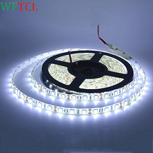 Wholesale LED Light strips 5050 RGB waterproof led lights 12 volt strip led lights 3 chips double PCB cheap price LED shop light