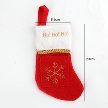 Christmas stocking decorations Christmas Flocking Candy Gifts Box holder Creative Socks Decor Santa Claus Xmas Cute Ornament