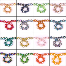 6 8 10 12MM Glass Round Beads 32 Faceted Ball AB & Plating Color Crystal Rondelle Beading Accessories Craft In Bulk Wholesale(China)