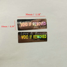 500pcs Laser Hologram VOID IF REMOVED Security Tamper Evident Warranty Stickers(China)