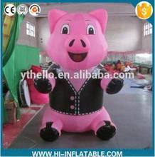 3m Customized logo printing giant cute inflatable pink pig for event