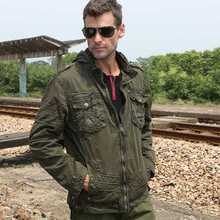 Men'S Casual Military Uniform Jacket Large Size Khaki/Army Green Turn Down Collar Embroidered Badges Autumn Coat S2558
