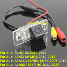 170 Degree CCD Special Car Rear View Reverse Backup Camera For Audi A1 S1 8X A3 S3 8V MQB A4 A4L S4 RS4 B8 8K A6 S6 RS6 C7 4G