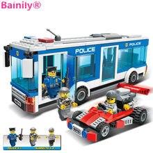 [Bainily] 256 шт. полицейский участок строительный Конструкторы кирпичи развивающие Игрушки подарок на день рождения игрушка для мальчика Совме...(China)