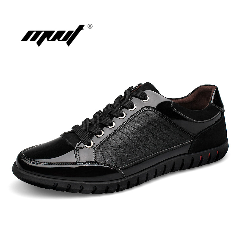 High 100% Genuine Leather men shoes Casual men flat Shoes, British style Lace Brand Designer Loafers Men
