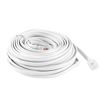 New White RJ11 6P4C Modular Telephone Extension Lead Cable 9M 30ft